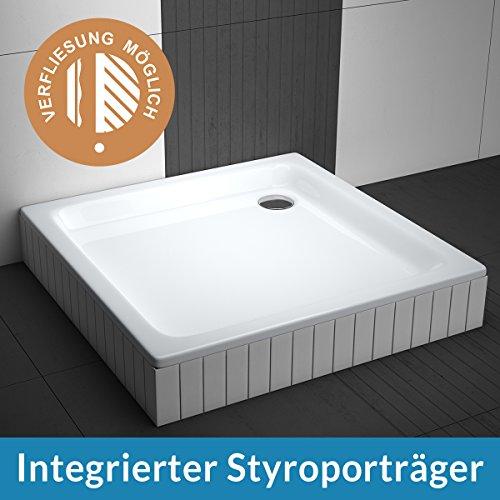 aquabad duschwanne comfort forta 80x80cm quadrat zum befliesen m bel24. Black Bedroom Furniture Sets. Home Design Ideas