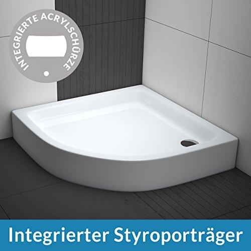AQUABAD® Duschwanne Comfort Forta Plus 90x90cm Viertelkreis R55