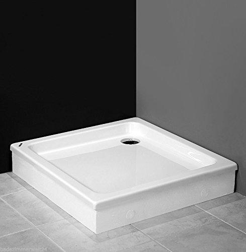 AQUABAD® Duschwanne/Duschtasse mit Styroporträger zum befliesen, Quadratisch 80x80x17 cm
