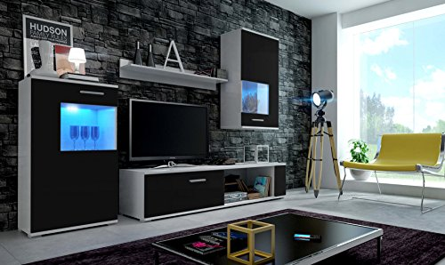m bel24 m bel g nstig eve moderne wohnwand exklusive mediam bel tv schrank neue garnitur. Black Bedroom Furniture Sets. Home Design Ideas