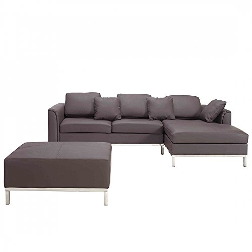 ecksofa leder braun linksseitig oslo m bel24 m bel g nstig. Black Bedroom Furniture Sets. Home Design Ideas
