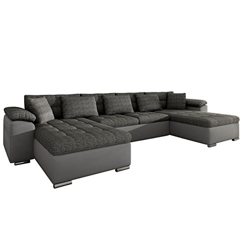 ecksofa wicenza design big sofa eckcouch couch mit schlaffunktion bettfunktion wohnlandschaft u. Black Bedroom Furniture Sets. Home Design Ideas