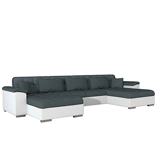 Ecksofa wicenza dot design wohnlandschaft big sofa couch for U form wohnlandschaft mit bettfunktion