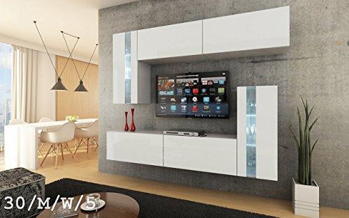 Future 30 moderne wohnwand exklusive mediam bel tv for Exklusive wohnwand