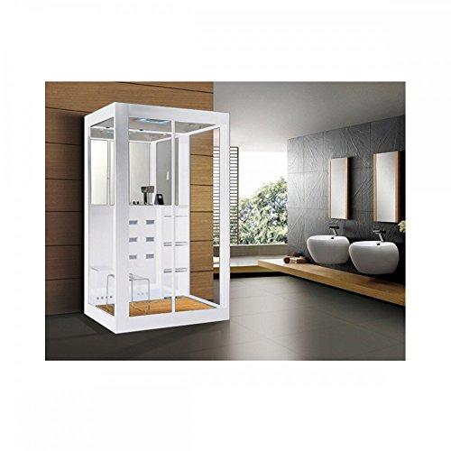 home deluxe duschtempel white luxory xl inkl dampfsauna und komplettem zubeh r m bel24. Black Bedroom Furniture Sets. Home Design Ideas