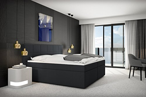 sam boxspringbett loreno stoff anthrazit grau bonellfederkern box 7 zonen h3. Black Bedroom Furniture Sets. Home Design Ideas