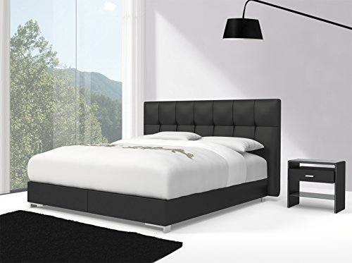 sam design boxspringbett zadar toronto schwarz mit bonellfederkern in massiv holz rahmen und. Black Bedroom Furniture Sets. Home Design Ideas
