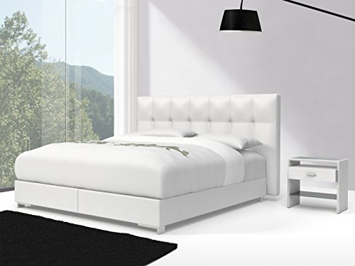 sam design boxspringbett zadar toronto wei mit 7 zonen h2 taschenfederkern matratze und chrom. Black Bedroom Furniture Sets. Home Design Ideas