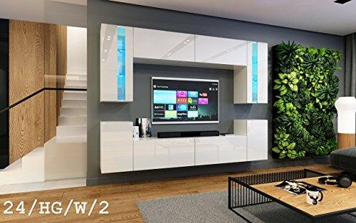 Wohnwand future 24 moderne wohnwand exklusive mediam bel for Wohnwand ohne tv