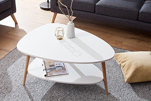 Design retro couchtisch scandinavia wei eiche tisch - Retro wohnzimmertisch ...