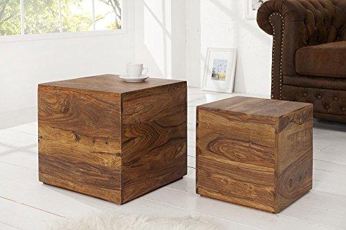 dunord design beistelltisch couchtisch jakarta 2er design tisch set palisander sheesham massiv. Black Bedroom Furniture Sets. Home Design Ideas