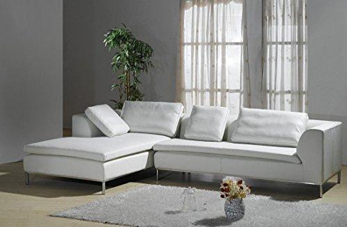 Design Voll-Leder Ledergarnitur Ledersofa Ecksofa-Sofa-Garnitur-Eckgruppe 299-LWoH