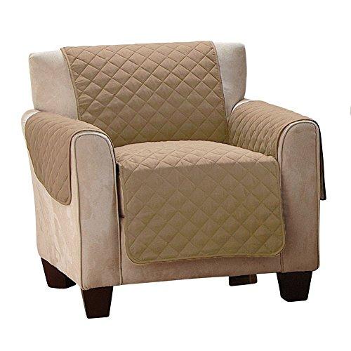 Neue Version Sofaschoner Sesselbezug 1 Sitz Wasserfest Anti-Rutsch Beige