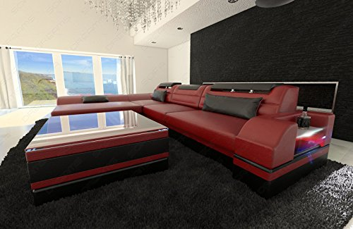 designer ledersofa monza l form 2 m bel24 m bel g nstig. Black Bedroom Furniture Sets. Home Design Ideas
