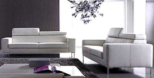 "Design Ledersofa ""Bari V1"", Vollleder, mit Armteil,Federkern, Sofagarnitur, Couch, moebelhome"