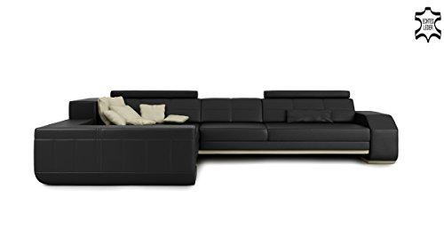 m bel24 m bel g nstig leder wohnlandschaft eckcouch sofa couch ledersofa ledercouch design. Black Bedroom Furniture Sets. Home Design Ideas