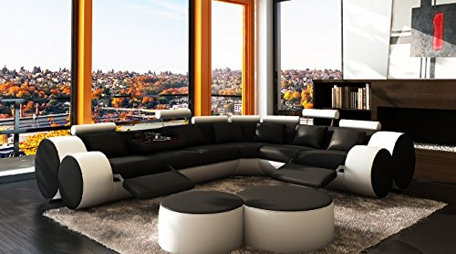 jvmoebel ledersofa design ecksofa madrid mit relaxfunktion braun beige 310 270 oder 270 310. Black Bedroom Furniture Sets. Home Design Ideas