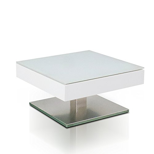 m bel24 m bel g nstig design couchtisch mariko original mca edelmatt wei edelstahl optik. Black Bedroom Furniture Sets. Home Design Ideas
