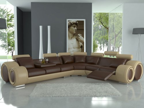 jvmoebel ledersofa design ecksofa berlin mit relaxfunktion grau wei 310x270 oder 270x310. Black Bedroom Furniture Sets. Home Design Ideas