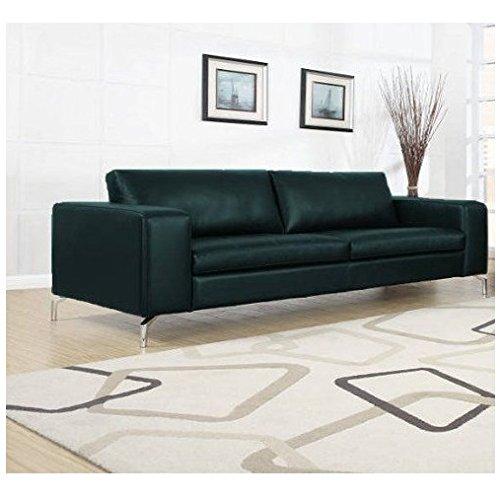 Madison Designercouch / Polstergarnitur / Polstercouch / Couch 3-Sitzer Kunstleder schwarz