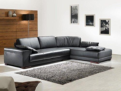 Design Ledergarnitur Ledersofa Voll-Leder Ecksofa-Sofa-Garnitur-Eckgruppe 5042-RS