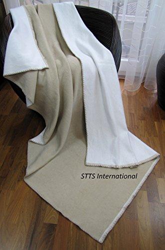 STTS International Baumwolldecke Wohndecke Kuscheldecke Tagesdecke 100% Baumwolle sehr weiches Plaid Korsika Alle Farben