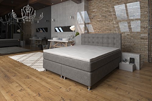 boxspringbett 160x200 ronda lux komfort 7 zonen taschenfederkern matratze h2 h3 unterbau. Black Bedroom Furniture Sets. Home Design Ideas