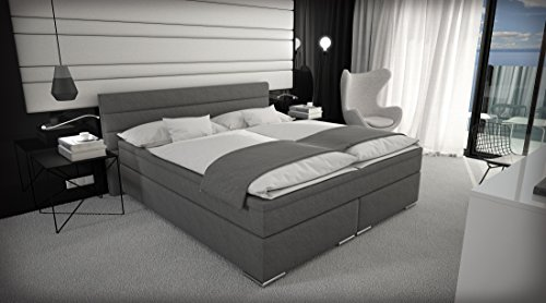 m bel24 m bel g nstig boxspringbett 180x200 cm doppelbett hotelbett. Black Bedroom Furniture Sets. Home Design Ideas