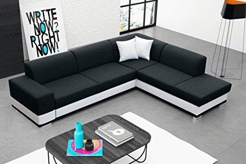 furnistad ecksofa molly mit schlaffunktion und bettkasten schwarz option rechts m bel24. Black Bedroom Furniture Sets. Home Design Ideas