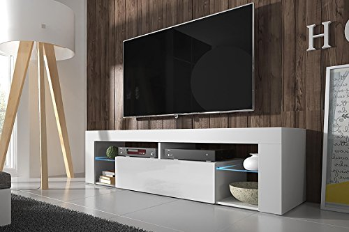 hestia tv lowboard tv schrank 140 cm wei matt. Black Bedroom Furniture Sets. Home Design Ideas