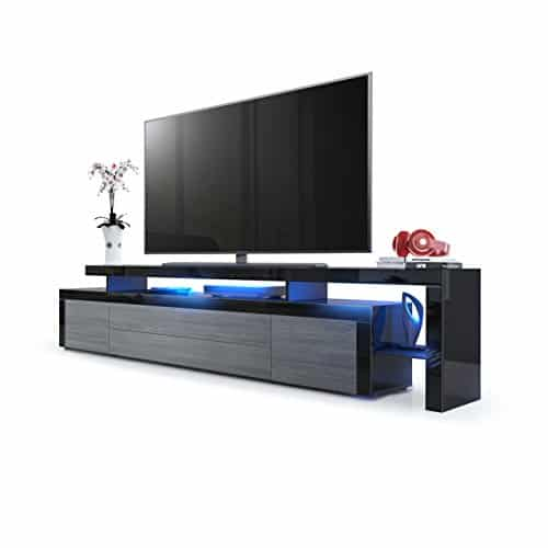 m bel24 m bel g nstig leon v3 tv board schwarz. Black Bedroom Furniture Sets. Home Design Ideas