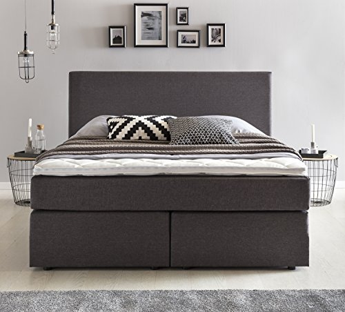 m bel24 m bel g nstig m belfreude boxspringbett benno 160x200 cm anthrazit h2 mit. Black Bedroom Furniture Sets. Home Design Ideas