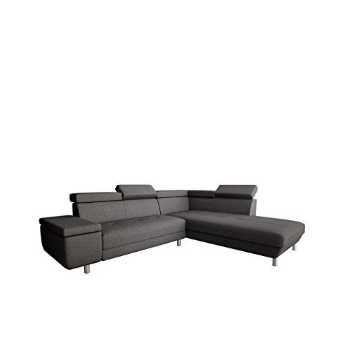 outlet polsterecke meriva ecksofa eckcouch einstellbare kopfst tzen l form couch. Black Bedroom Furniture Sets. Home Design Ideas