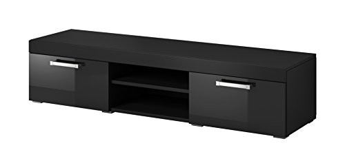 tv element tv schrank st nder mambo schwarz matt schwarz hochglanz m bel24. Black Bedroom Furniture Sets. Home Design Ideas