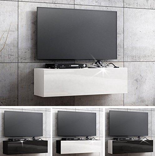 TV Lowboard Hängeboard Board Schrank mit Hochglanz 105 cm Länge