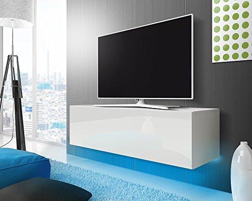tv schrank lowboard h ngeboard simple mit led blau wei matt wei hochglanz 140 cm m bel24. Black Bedroom Furniture Sets. Home Design Ideas