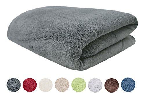 Zollner Coral-Fleece-Decke/Kuscheldecke/Wohndecke/Wolldecke, in vielen Farben wie beige, schoko, apfelgrün, weinrot, graphit, uvm, und zwei Größen 150/200cm oder 220/240cm, Ortler