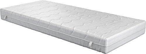 Fairmat Matratze Classic orthopädische Matratze Komfortschaummatratze | Visco Beschichtung | 3D-Würfelschnitt | 7 Zonen | Doppeltuch Bezug | Höhe 23cm | Härtegrad H3 | Größe 90x200cm
