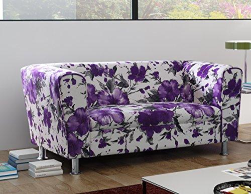 2-Sitzer Design Sofa 2er Wellenunterfederung Modern - VANCOUVER