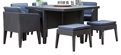 Keter Dining Set, Columbia, 7-teilig, graphit, 56x54x68 cm, 17204121