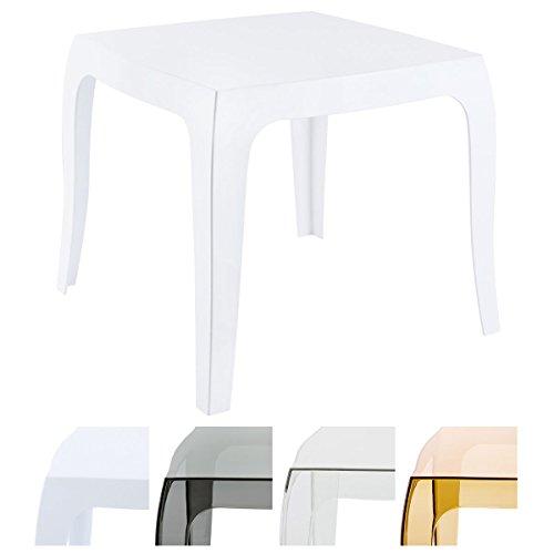 CLP Design-Kunststofftisch QUEEN | Pflegeleichter eckiger Beistelltisch | Wetterbeständiger Outdoor-Tisch | In verschiedenen Farben erhältlich