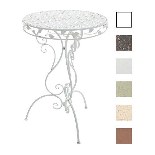 CLP Eisen-Stehtisch ALDORA in nostalgischem Design | Gartentisch mit geschwungenen Beinen | In verschiedenen Farben erhältlich