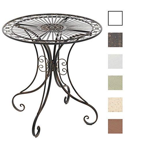 CLP Eisentisch HARI in nostalgischem Design | Robuster Gartentisch mit kunstvollen Verzierungen | In verschiedenen Farben erhältlich