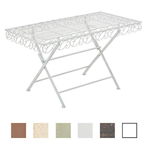 CLP Eisentisch JOSEFA in nostalgischem Design | Robuster Gartentisch mit kunstvollen Verzierungen | In verschiedenen Farben erhältlich