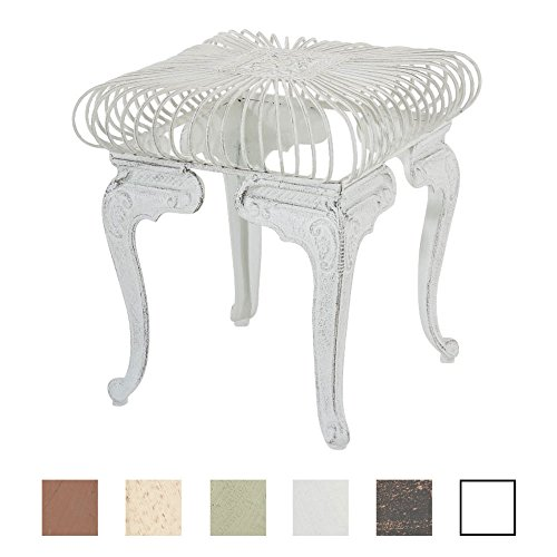 CLP Eisentisch Melle in nostalgischem Design | Robuster Gartentisch mit kunstvollen Verzierungen | In verschiedenen Farben erhältlich
