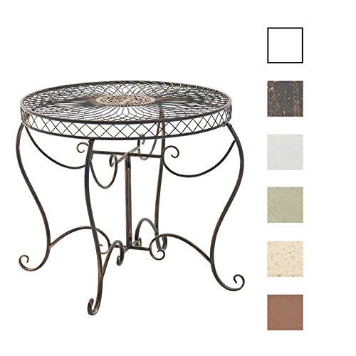 CLP Eisentisch SHEELA in nostalgischem Design | Gartentisch mit geschwungenen Beinen | In verschiedenen Farben erhältlich