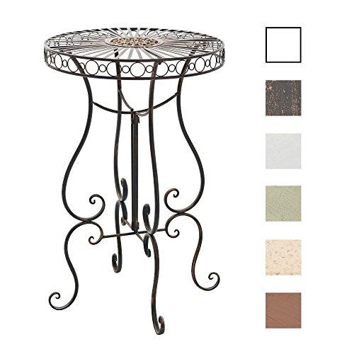 CLP Eisentisch SHIVA in nostalgischem Design | Robuster Gartentisch mit kunstvollen Verzierungen | In verschiedenen Farben erhältlich