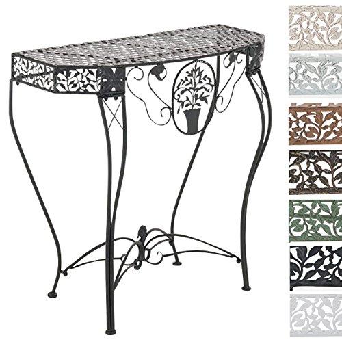CLP Eisentisch SONORA in nostalgischem Design | Robuster wetterbeständiger Gartentisch | In verschiedenen Farben erhältlich