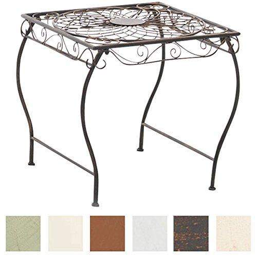 CLP Eisentisch ZARINA in nostalgischem Design | Robuster Gartentisch mit kunstvollen Verzierungen | In verschiedenen Farben erhältlich