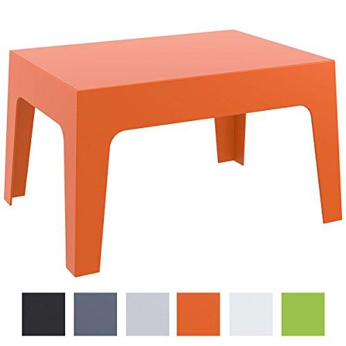 CLP Gartentisch BOX aus Kunststoff | Stapelbarer Beistelltisch mit einer Höhe von: 43 cm | Wetterfester Outdoor-Tisch | In verschiedenen Farben verfügbar